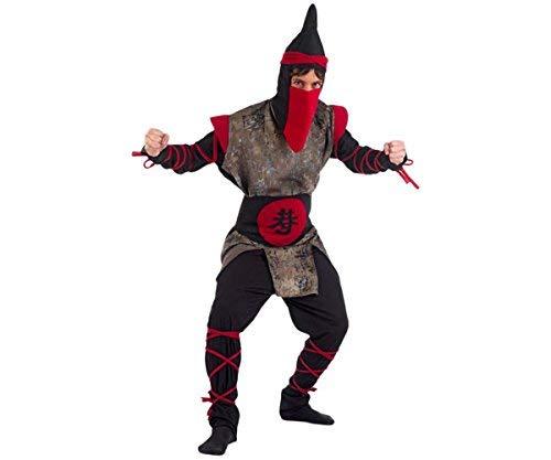 costume adulto uomo guerriero ninja taglia M