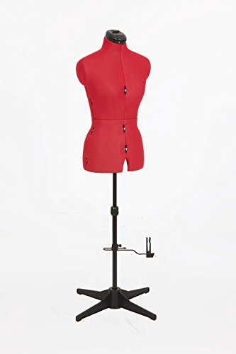 Adjustoform 023816/Rojo Cosa simple 8 Parte maniquí de modista ajustable UK10-16