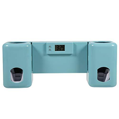 1 dispensador de pasta de dientes automático + soporte para cepillo de dientes,...
