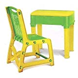 #7: Study Table & Chair Set for Kids Unisex Desk for Boys & Girls Green Yellow