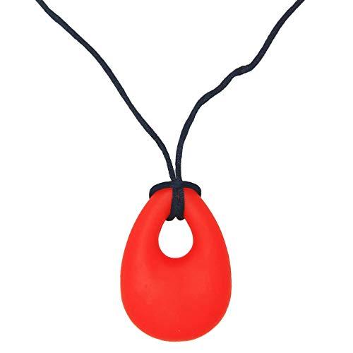 Deniseonuk Silikon Halskette Baby Molar Stick, Engel Tränenform Beißring Spielzeug für Autismus & Oral Motor Spezielle Bedürfnisse Kinder Massage Punkte Texturierte Chewy Stick