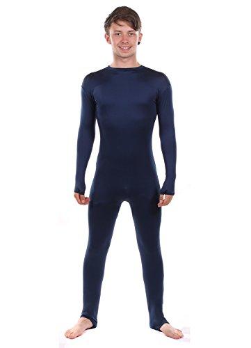 Superfans Kostüm - Stretchy Suits Ausgabe: Marineblau Lycra Unitard Catsuit (Männer: Groß)