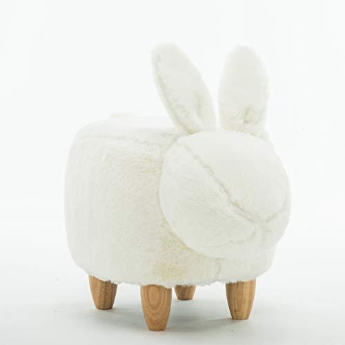 CKH Kreative Waschbar Kleine Faule Kaninchen Hocker Ändern Schuhe Hocker Moderne Minimalistische Home Wohnzimmer Schlafzimmer Veranda Test Schuhe Bank Hocker Hocker Weiß