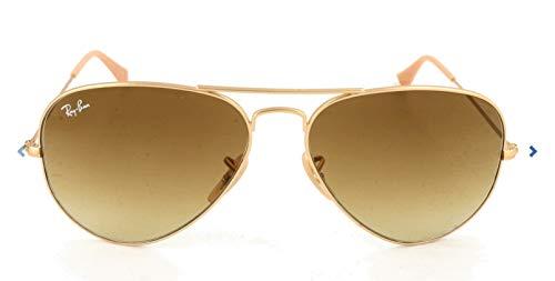 Ray Ban Unisex Sonnenbrille Aviator, Gr. Large (Herstellergröße: 55), Gold (gold braun 112/85)