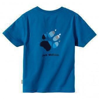 Jack Wolfskin Kinder Shirt Kids Paw T, electric blue, 140, 1002044104