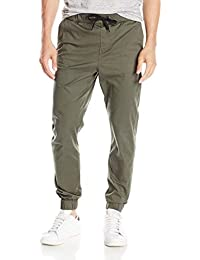 Sarona Men's Olive Green Slim Fit Stretch Jogger Jeans