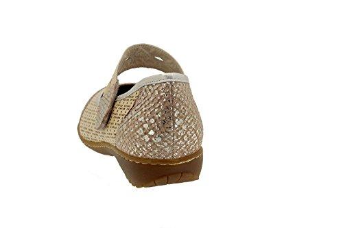 Scarpe donna comfort pelle Piesanto 4756 scarpe soletta estraibile sportive comfort larghezza speciale Hielo