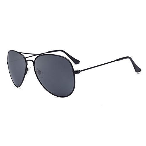 FUZHISI Sonnenbrillen Polarisierte Sonnenbrille Männer Pilot Damen Fahren Sonnenbrille Oval Mirror Goggles Eyewear, Schwarz