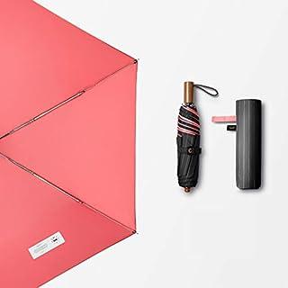 QYSZYG Double-layer Sunscreen Black Umbrella Anti-UV Sun Umbrella Household Umbrella Folding Umbrella Three Colors Optional umbrella (color : Pink)