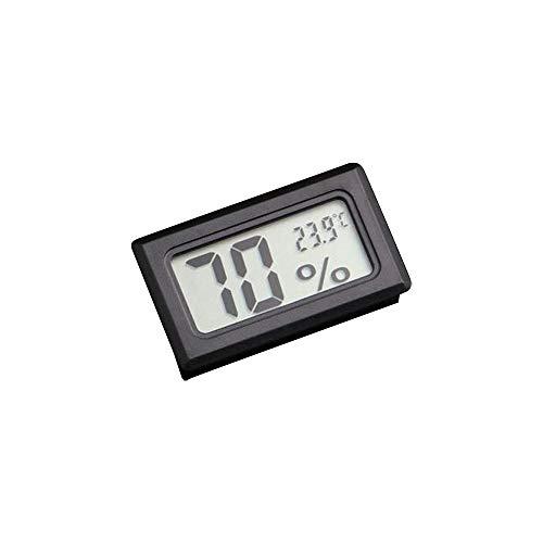 GFEU Digitales Reptilien-Thermometer-Hygrometer mit LCD-Display für Reptilien-Terrarien (Schwarz)