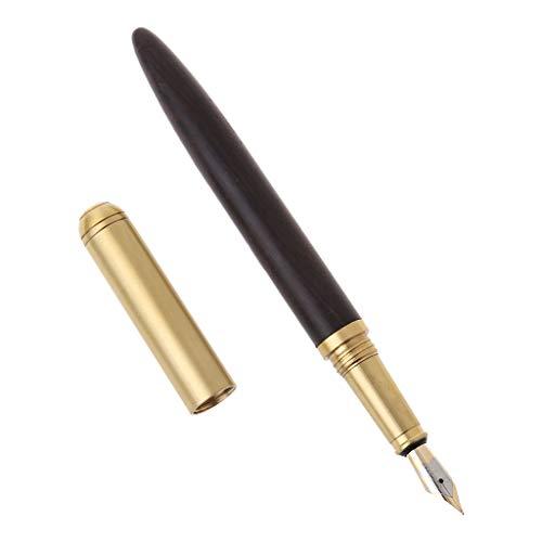 Meiqqm Vintage Luxus Füllfederhalter aus Kupfer mit feiner Feder 0,7 mm Schreibwerkzeug für Reisen Büro Büro Büro 0.7mm 2