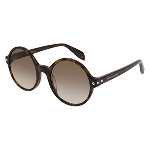 Alexander mcqueen am0073s 002 52 occhiali da sole, marrone (002-avana/brown), donna