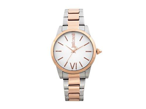 Just Cavalli Damen Analog-Digital Quarz Uhr mit Edelstahl Armband JC1L010M0145