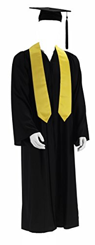 Graduation Doktor Talar Cap Robe College Abschluß Uni Doktorhut Bachelor (M) (Baseball Robe)