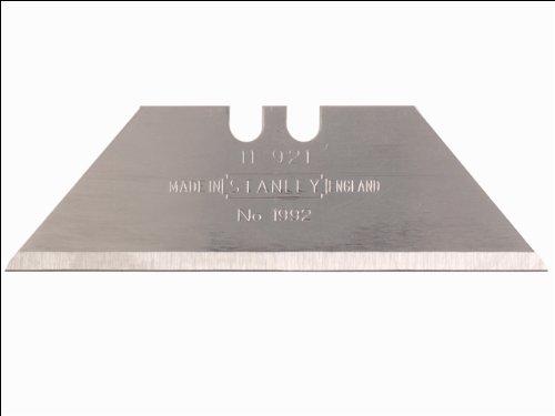 Stanley Trapezklingen 1992 ohne Lochung (0,65 mm Klingenstärke, 62 mm Klingenlänge, 400 Stück) 4-11-921 (Cutter Bessey-box)