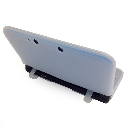 HDE Silikon Rubber Gel Soft Haut Schutzhülle für Nintendo 3DS XL/LL [Nintendo 3DS] weiß Anti-smudge Screen Protector