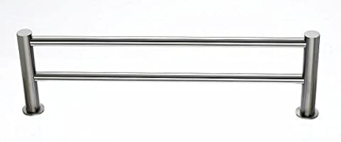 Top Knobs HOP9BSN Hopewell Bath 24 Double Towel Bar, Brushed Satin Nickel by Top Knobs