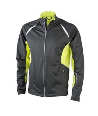 JN440 James + Nicholson uomo giacca, Sport giacca antivento alemira black/acid yellow