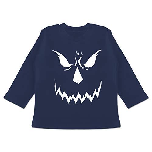 Anlässe Baby - Scary Smile Halloween Kostüm - 12-18 Monate - Navy Blau - BZ11 - Baby T-Shirt langarm