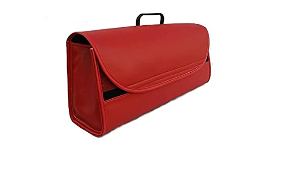 Van Mercedes Truck Red Leather Boot Tidy Organiser Benz Luxury Car Fits all Models