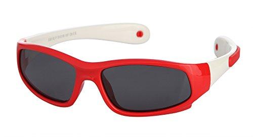 La Vogue Kids Sport Polarized Sunglasses Boys Girls Flexible Rubber  Sunglasses Red 8951f3a7266f