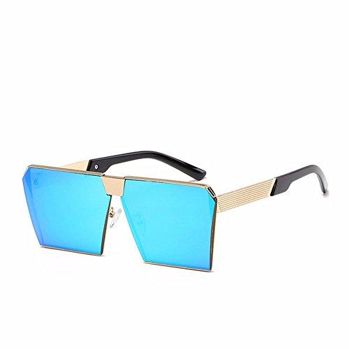 LXKMTYJ Big Box Quadrat Polarisierte Sonnenbrillen'S Fashion Herren Damen Brillen, Blau