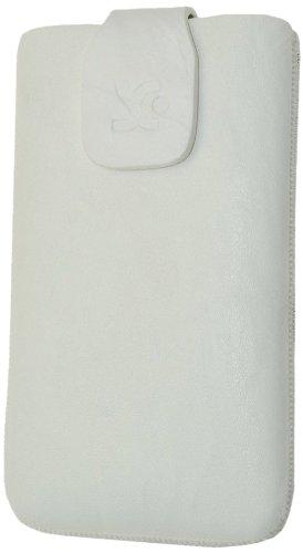 Original Suncase Echt Ledertasche für Samsung S8600 Wave 3 in weiß