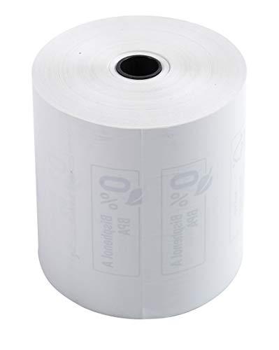 kung (mit 10 Kassenrollen, 1-lagig thermisch hohe Auflösung, ideal für Kassen, 55g/qm, Breite: 80mm, Durchmesser Kern: 12mm, Länge: 76m) 1er Pack (1 x 10 Stück) weiß ()