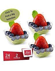 Mini Wonders Heavy Duty Small Kunststoff Single dienen Dessert Cups 2Oz Klar Vorspeise quadratisch Schalen 24Zählen-Einweg wiederverwendbar Party Gerichte
