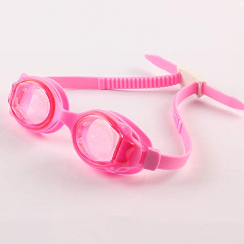 jsauwi Swim Goggles Swimming Goggles Adult  Children's Goggles Waterproof Anti-Fog HD, pink -