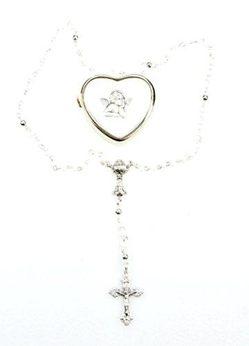 zu ersten heiligen Kommunion....zierlicher Rosenkranz im goldfarbenen Herzdöschen