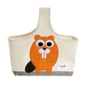 100% Cotton 3 Sprouts Storage Caddy Coated Inside - Orange Bever - Perfect Gift for Baby Showers Nourrisson, Bébé, Enfant, Petit, Tout-Petits