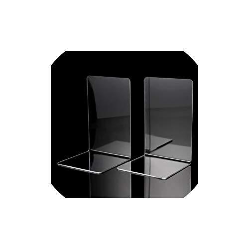 2ST Plexiglas Bookends L-förmigen Schreibtisch-Organisator Desktop-Buchhalter-Schule-Briefpapier Büro-Zubehör, M -