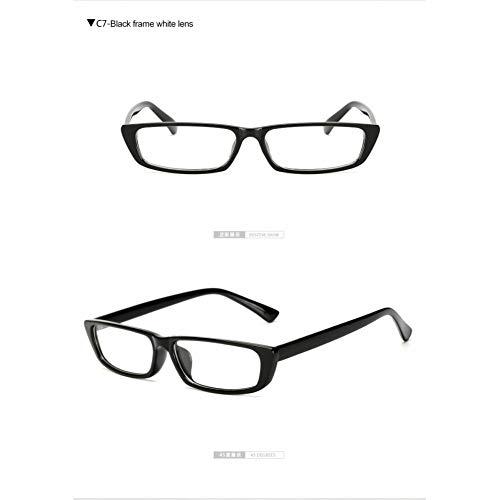 Taiyangcheng Frauen kleine quadratische Sonnenbrille Damen Brille männer klar rote schattierungen rechteck rechteckige Eyewear,Schwarz-Weiss