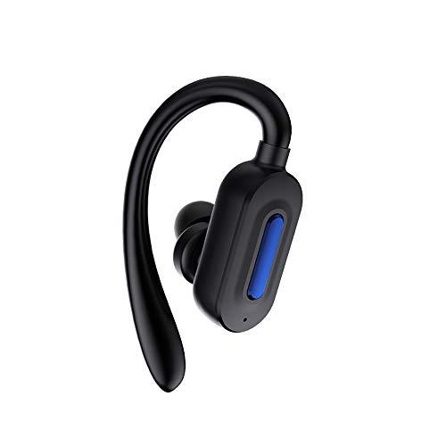 ElecMAX Wireless Bluetooth Headset Ohrstöpsel In-Ear Over-Ear-Drive Single Ear Sport Run Can Answer Phone Wasserdicht Handy Universal (schwarz) Single-ear-headset