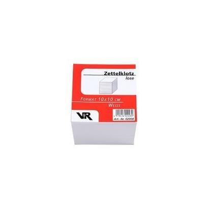 VIKTOR RICHTER Zettelboxeinlagen, 100 x 100 mm, holzfrei blanko weiß 10cm x 10 cm zum nachfüllen