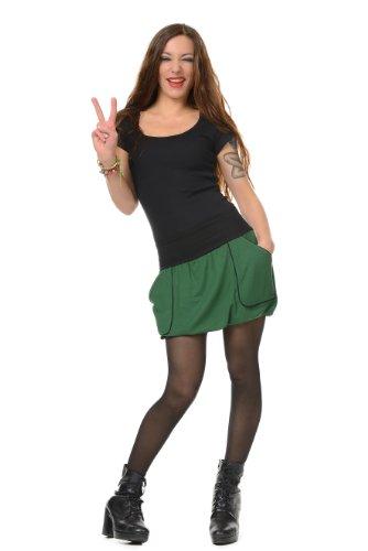 cooler Ballon Rock lässig und bequem mit Taschen der Marke 3Elfen - fair produziert- Grün