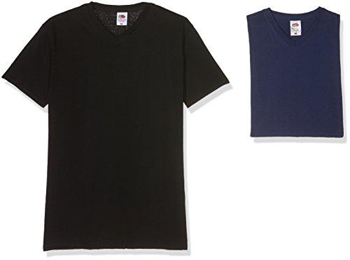 Fruit of the Loom Herren T-Shirt, 10er Pack Multicoloured (Black/Navy)