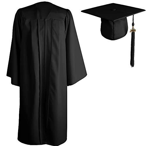 GGS Akademischer Talar Doktorhut und Quaste Schule abschließen Uni Diplom Abschluss und Abschlussfeier 12 Farbe,Schwarz