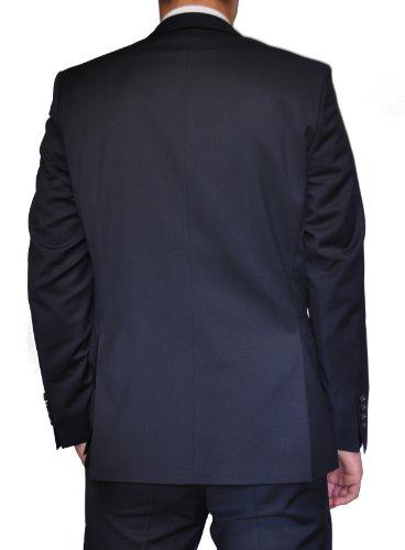 Combinaison homme en Super120'S laine vierge dans bleu foncé, marque: Marz Otto (Taille 44–64, 24–32, 90–122) Bleu foncé