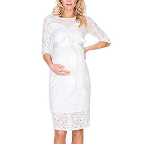 6e0550c75b VICGREY Vestito da maternità Donna Abito di maternità Abito in Pizzo Abito  di Gravidanza Scollo a