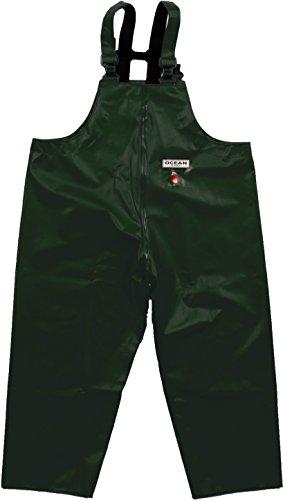 Ocean Classic Latzhose - Ölzeughose aus PVC auf Baumwollträger. DAS Ölzeug für den Profi (7XL, grün)