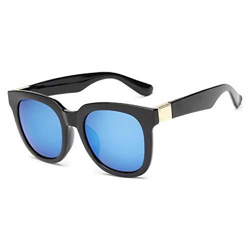 Der gleiche Absatz Sonnenbrille Reflexfolie Sonnenbrille Männer und Frauen mit dem gleichen Sonnenbrille Quadrat großen Rahmen Sonnenbrille 663FML Tee Rahmen K Gold Film, schwarzer Rahmen blauen Film