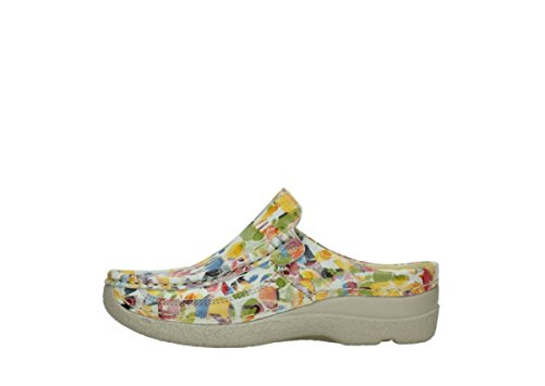 Wolky Comfort Sabots Roll Slide 12910 blanc multi