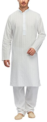 Manyavar Men's Cotton Kurta Pyjama