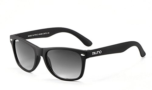 Miuno® Kinder Sonnenbrille Wayfare für Jungen und Mädchen Etui 2688 (matt Schwarz)