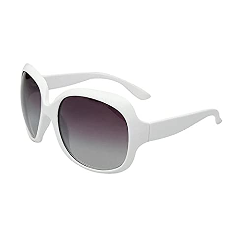 OYMI Oversized Women's Polarised Sunglasses Fashion Eyewear UV400 (White)