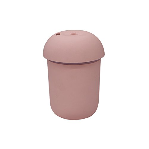 BeesClover 3 in 1 USB-Ladegerät, multifunktionaler Luftbefeuchter + Nachtlicht + Mini-Ventilator für Home Office Praktisches Werkzeug Pink...