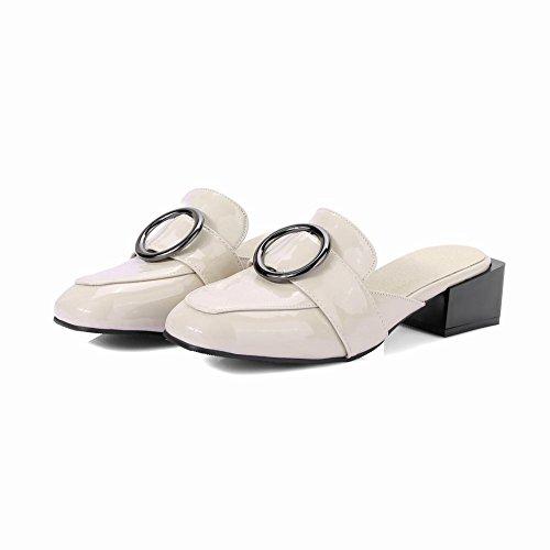 MissSaSa Donna Scarpe Pantofole col Tcco basso Nuovo Avorio