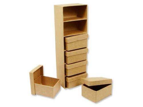 Craft Pedlars Craft Ped Paper Mache Mini Boxes w/Frame Kraft - Kraft-papier Mache